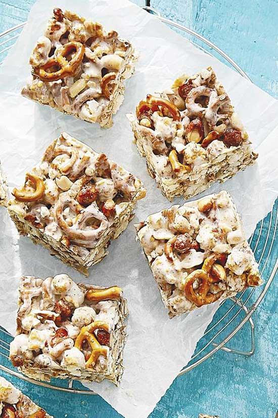 Cracker Jack and Pretzel Treats