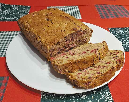 Low Sugar Cranberry Bread