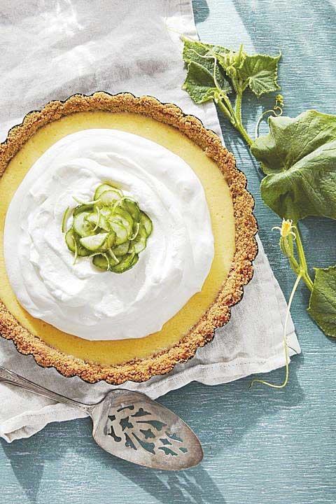 Cucumber-Key Lime Pie