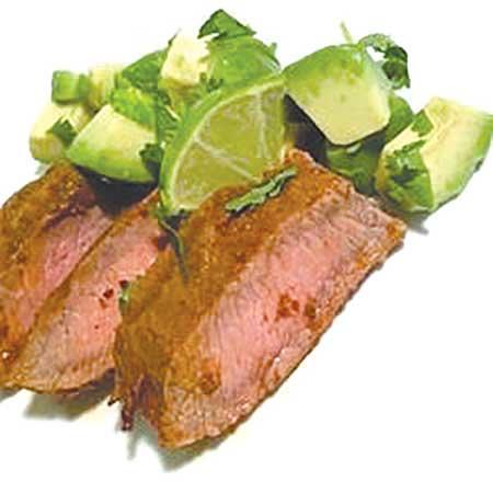 Flat Iron/Flank Steak with Three Pepper Rub