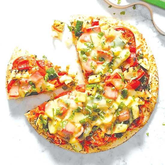 Garden-Fresh Grilled Veggie Pizza