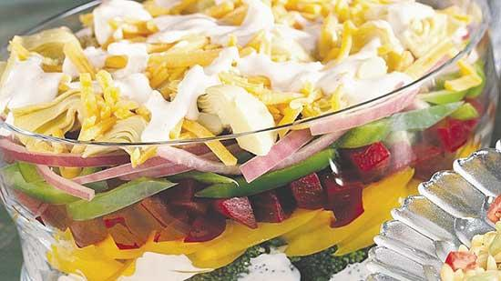Layered Beet/Vegetable Salad