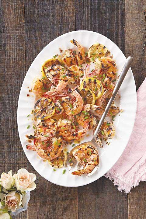 Spicy Grilled Shrimp with Garlic & Lemon