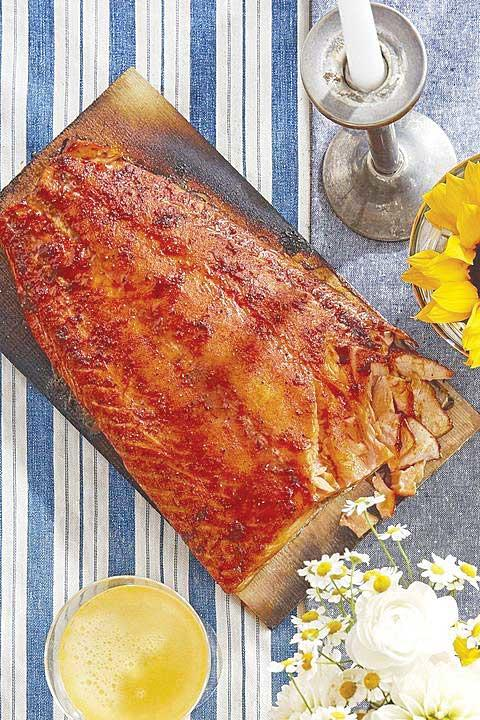 Sweet-and-Smoky Cedar-Planked Salmon