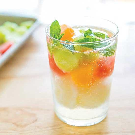 Triple-Melon Sorbet Float