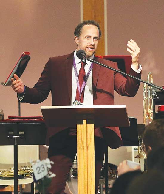 Buffalo High School Principal Mark Mischke spoke to the crowd during the 34th Annual Academic Awards Luncheon, which took place Wednesday, May 15 at the Buffalo Evangelical Free Church. A total of 52 Chamber member businesses sponsored a total of...