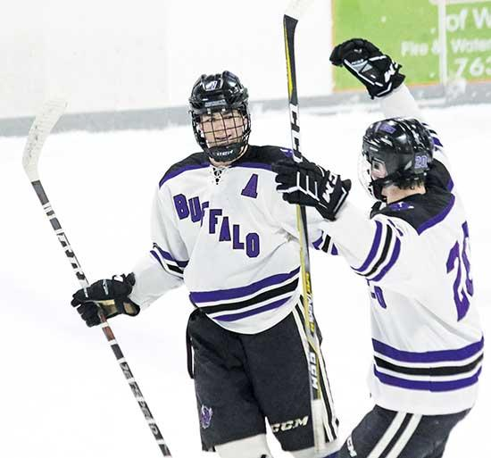 The Buffalo boys' hockey team killed two birds with one stone following an 8-1 home win last Saturday over arch-rival St. Michael-Albertville.The victory clinched the Bison's first conference title since 2012-13. It also leapfrogged Buffalo one...