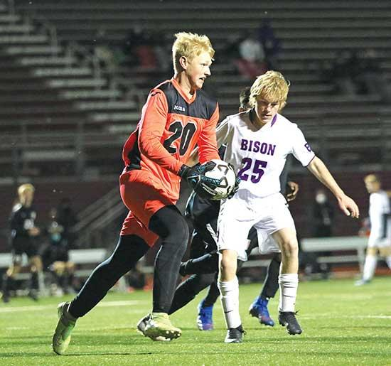 Bison drop 3-0 playoff game at top-seed Maple Grove The Buffalo boys' soccer team is used to playing the underdog role.After finishing an abbreviated regular season winless in 11 games, the Bison once again were the huge underdogs as the No. 8...