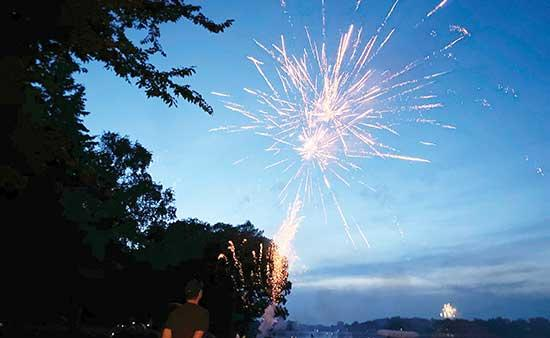 Though cities could not host their usual fireworks shows on the Fourth of July due to COVID-19, that did not stop locals from celebrating with their own pyrotechnics. A variety of fireworks could be seen on display over lakes in Maple Lake, Buffalo...