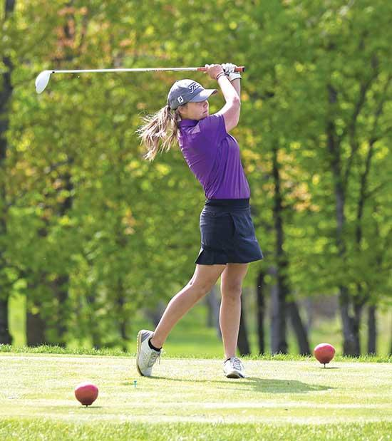 Girls shoot 329 in home meetHanna VanDenEinde couldn't have picked a better time to shoot her personal-best score of 94 in Monday's Mississippi 8 West girls' golf meet at Wild Marsh in Buffalo.With a season average of 99, VanDenEinde carded...