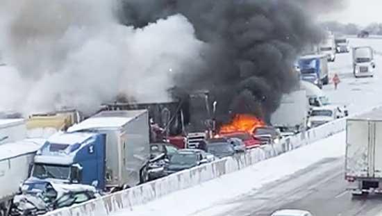 On Friday, Nov. 13, a chain-reaction crash closed down I-94 westbound near Cty. Rd. 18, between Monticello and Rogers. The crash took place just before 9:15 a.m., and involved 29 vehicles, half being semis. Several vehicles caught on fire, and the...