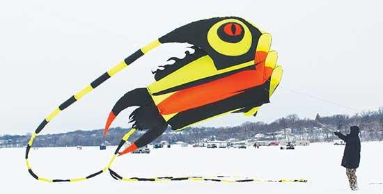 "This year, the Buffalo Area Chamber of Commerce and Tourism introduced the First-Ever ""Kites on Ice"" Festival, which was held on Buffalo Lake on Saturday, February 9, despite below-zero temps and hefty snow.The event is what the Chamber President..."