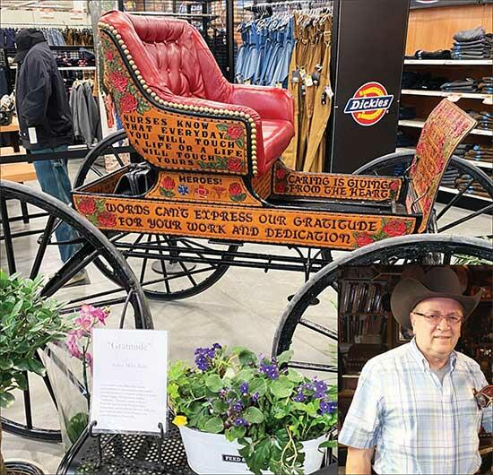 Those looking to learn about leatherwork are invited to stop by Fleet Farm in Monticello on Saturday, Feb. 27. Monticello resident and leatherworker Mike Bray, pictured above, finished restoring and decorating an old doctor's buggy the day of the...