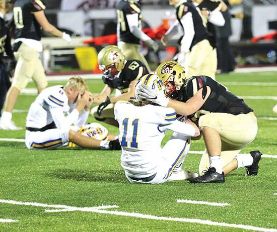 Lakeville South defeats STMA in battle of state's two heavyweightsHead Coach Jared Essler was quick to finger point at himself shortly after his St. Michael-Albertville football team suffered a 14-13 defeat against No. 1 ranked Lakeville South.A...