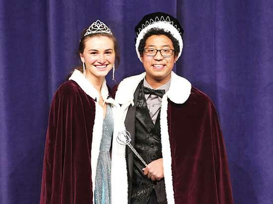 Buffalo High School seniors Joselyn Peterson, left, and Bartholomew Flynn, right, were crowned this year's Homecoming Queen and King during last Saturday's coronation ceremony at the BHS Performing Arts Center. See more photos in Sports/School News...